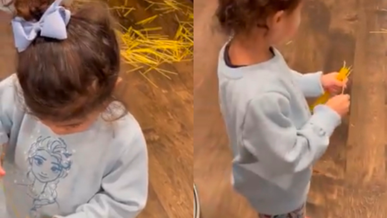 Dwayne Johnson's daughter adorably blamed kitchen mess on the Spaghetti Fairy