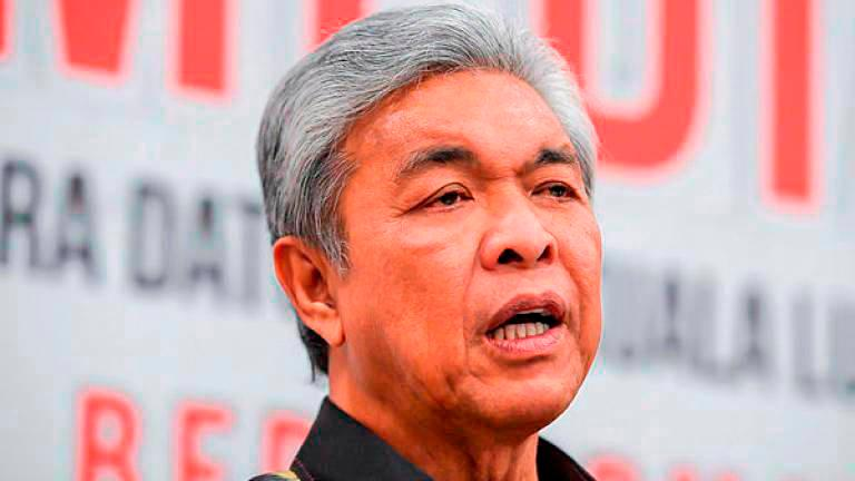 Learn from GE14, never fall for opposition's ruse again — Zahid