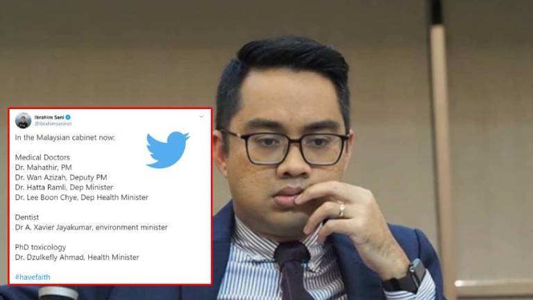 Have faith as the Malaysian government has 6 doctors, Astro Awani anchor tweets