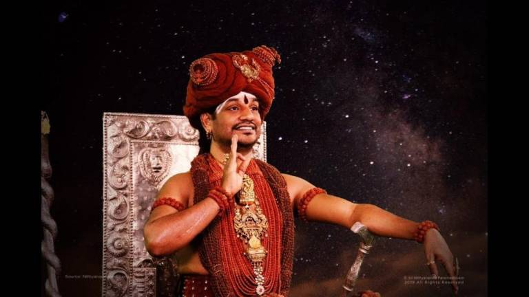 Indian border officials on lookout for fugitive cosmic guru Swami Nithyananda