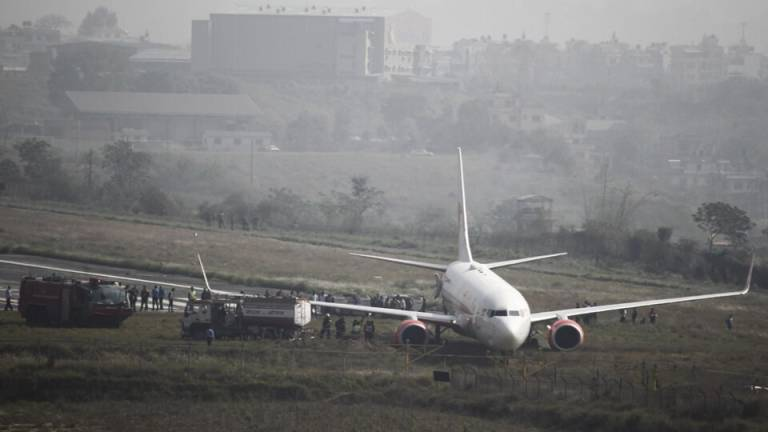 Nepal airport closed after plane skids off runway