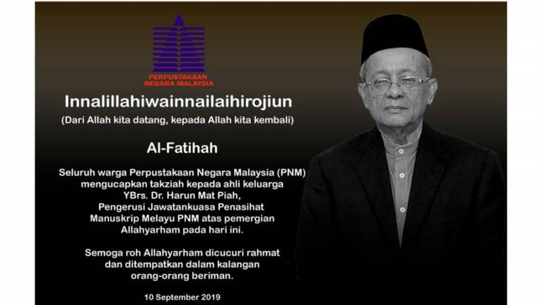 Malay Manuscripts Advisory Committee chairman dies in road accident