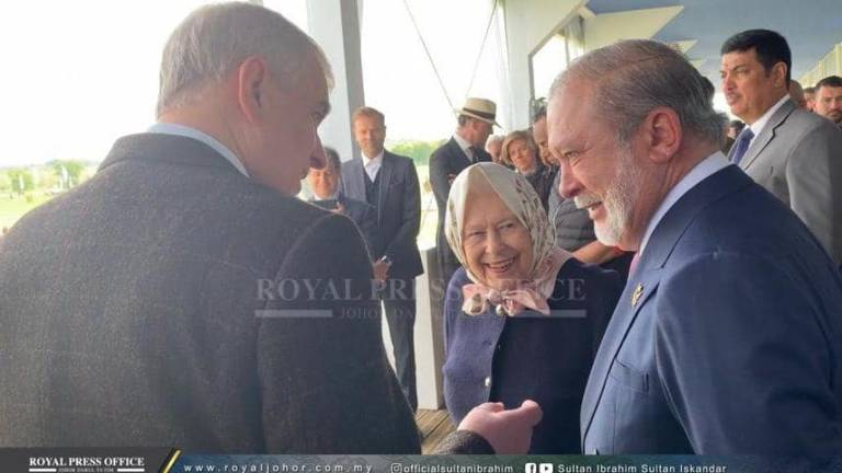 Sultan Ibrahim shares passion for horses, horse riding with Queen Elizabeth II on FB post