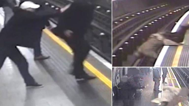 (Video) Man who pushed 91-year-old onto tracks jailed for life