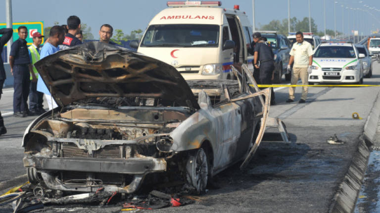 No foul play in car fire on second Penang Bridge