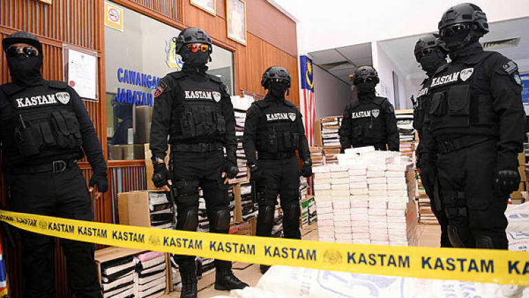 Drugs: Record haul worth RM676m by customs, police
