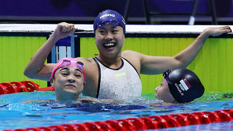 Jinq En wins Malaysia's first swimming gold