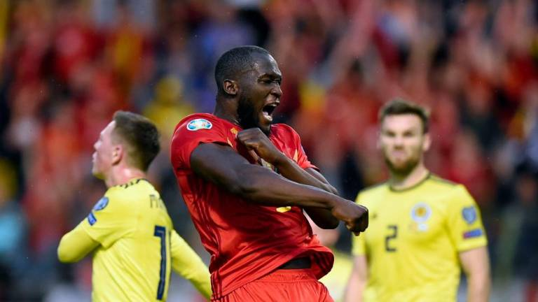 Two-goal Lukaku feels the love in Belgium amid club doubts