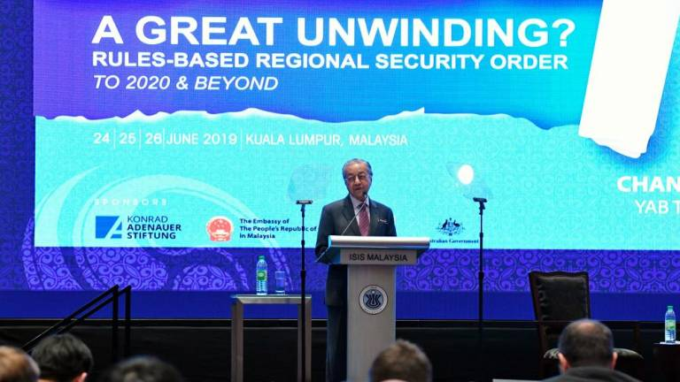 Malaysia will not be dragged into conflicts initiated by others: PM Mahathir (Updated)