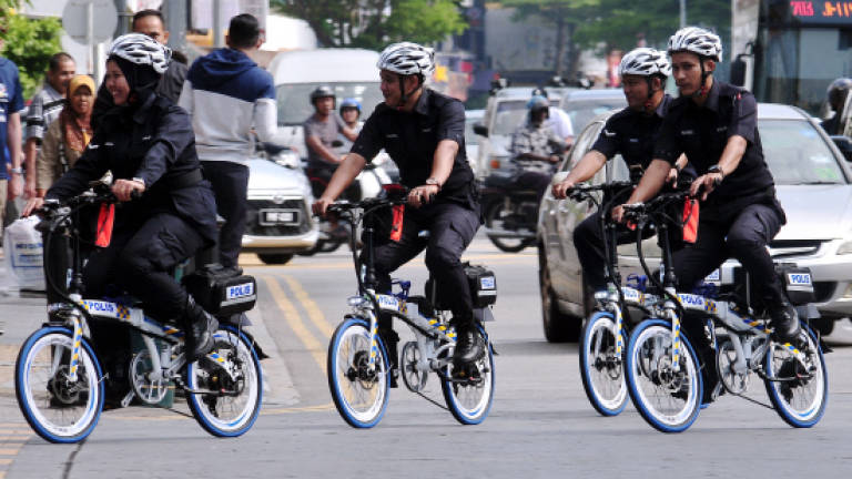 Penang cops set to be first to use electric bicycles for patrolling