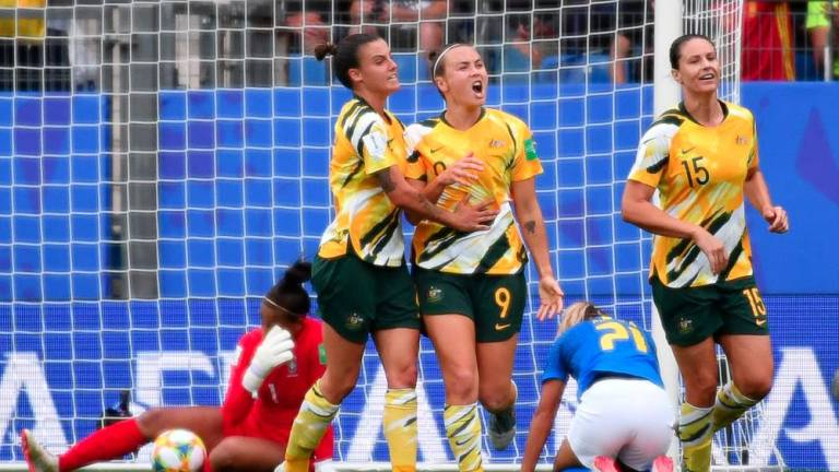 Matildas stun Brazil at World Cup as China send Germany and hosts through