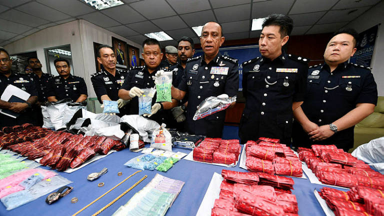 Police seize drugs worth RM3.2 million in Johor