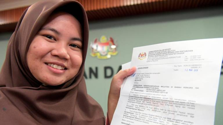Gift of citizenship for stateless top student
