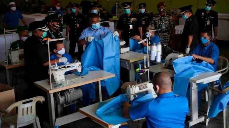 12 prisons nationwide help make PPE for healthcare workers