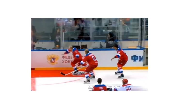 (Video) Putin falls on his face on ice rink
