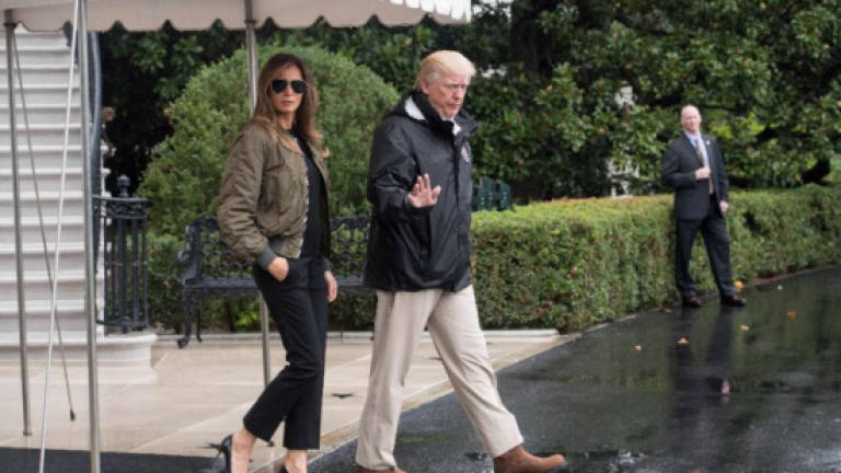Melania Trump makes waves with 'storm stilettos', FLOTUS hat