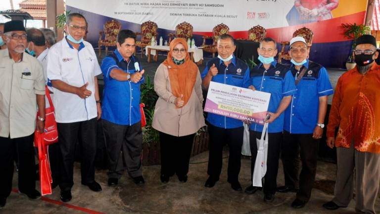 Nine Terengganu cooperatives get aid to overcome Covid-19 impact