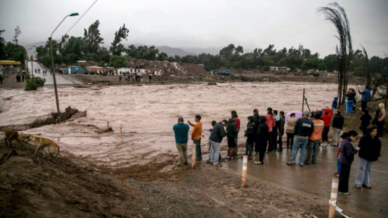Two dead, 24 missing in Chilean flooding