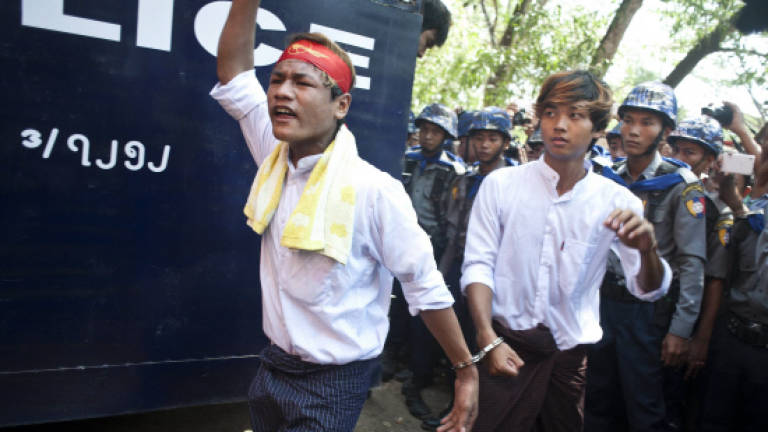 Myanmar student protesters go on trial