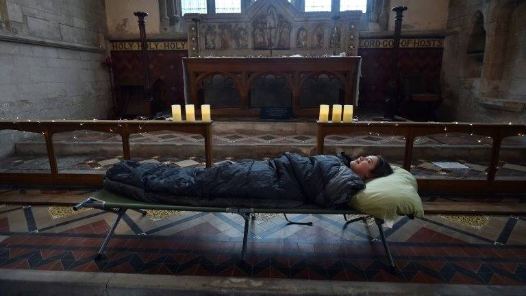 'Let us sleep': English churches welcome campers