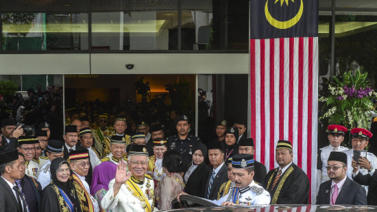 Agong opens Parliament sitting