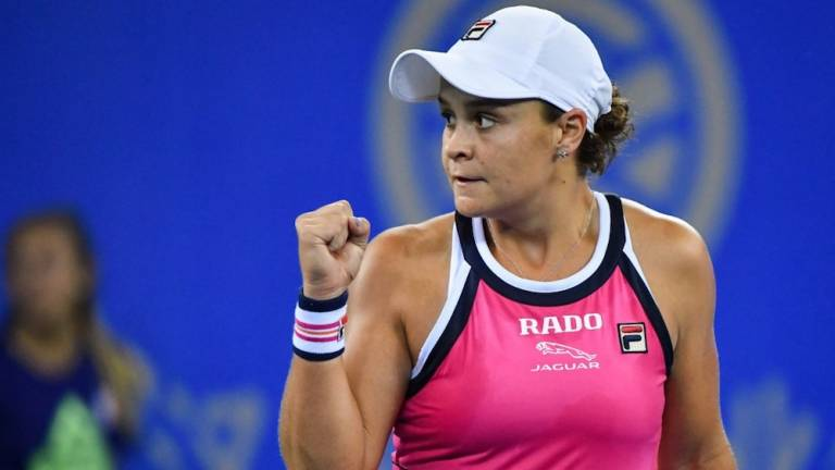 Top-ranked Barty named WTA Player of the Year