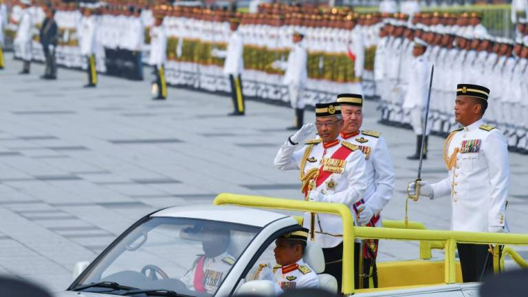 Agong attends trooping the colours ceremony