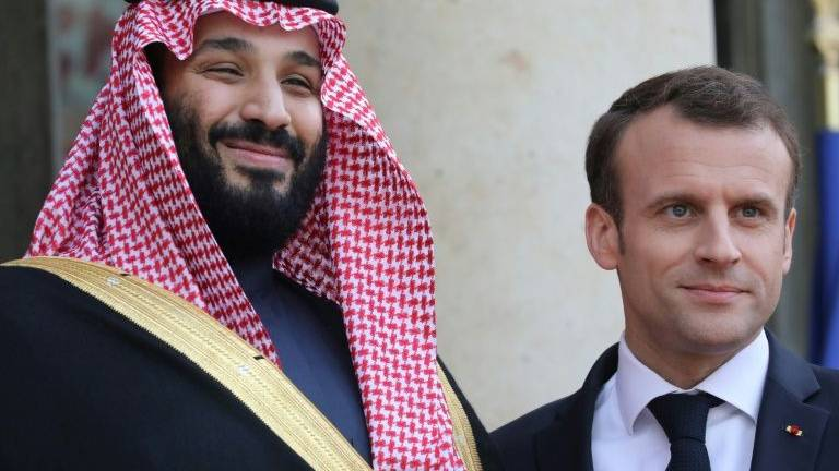 Paris sending experts to Saudi to shed light on attacks, Macron tells MBS