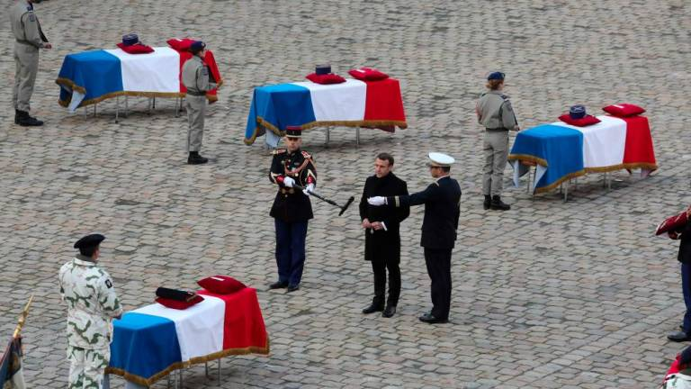 Macron honours 'sacrifice' of 13 French soldiers killed in Mali