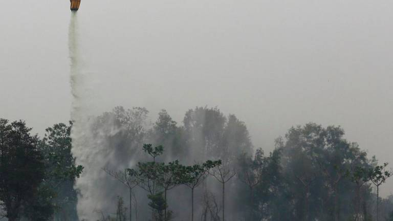 'Water bombing' exercise helps control forest fires in Sri Aman