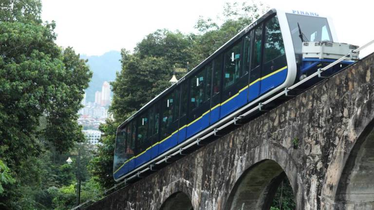 Penang Hill funicular service disruption, about 500 people affected