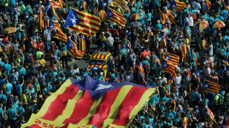 Turnout down at annual Catalan separatist mass rally