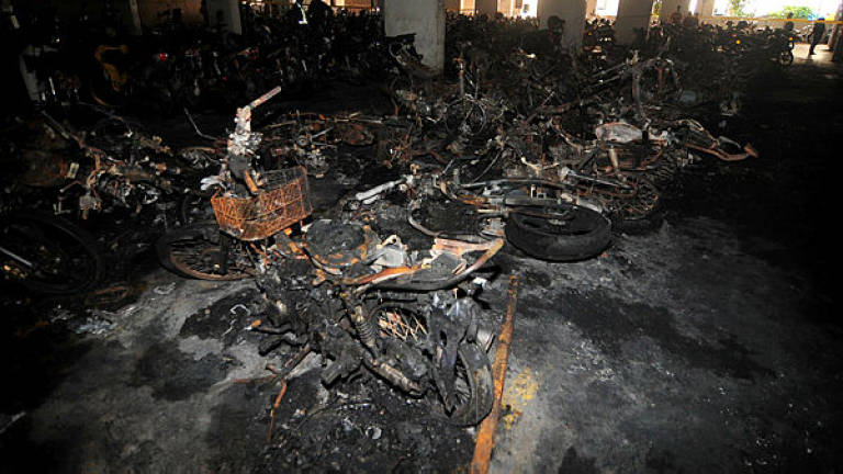 68 motorcycles destroyed in fire