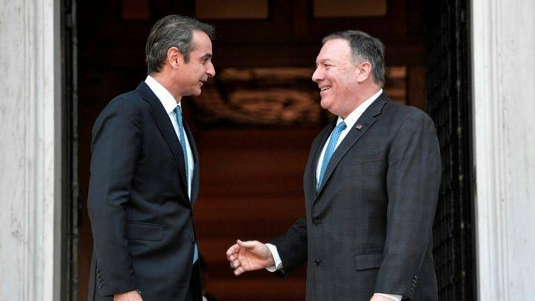Pompeo begins Greece talks to calm east Med tensions