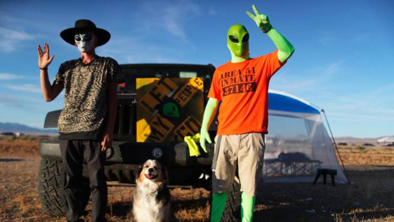 In Nevada desert, Area 51 raid lures festive UFO hunters; 3 arrested