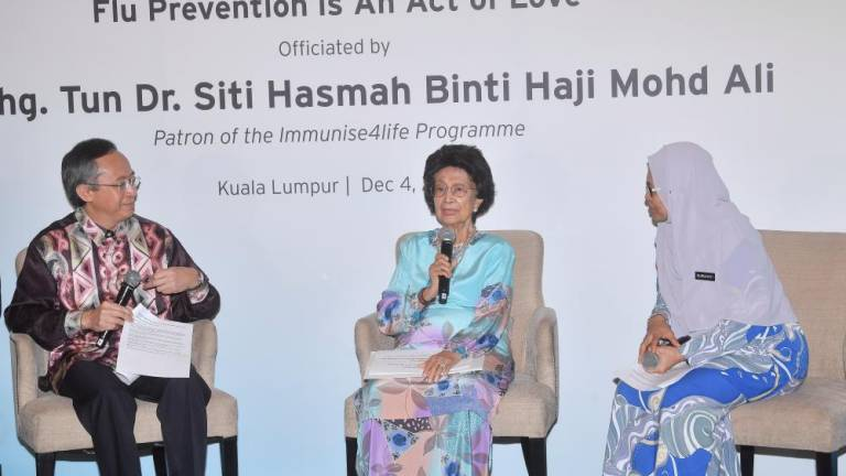 Protect loved ones with influenza vaccine: Tun Dr Siti Hasmah