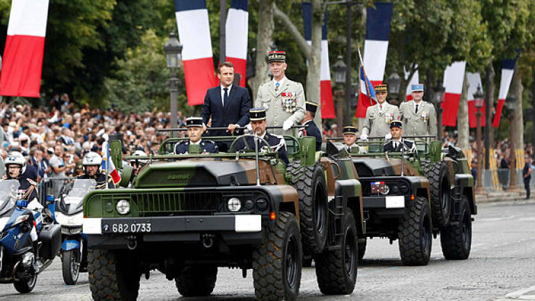 Macron showcases Euro military prowess at Paris parade
