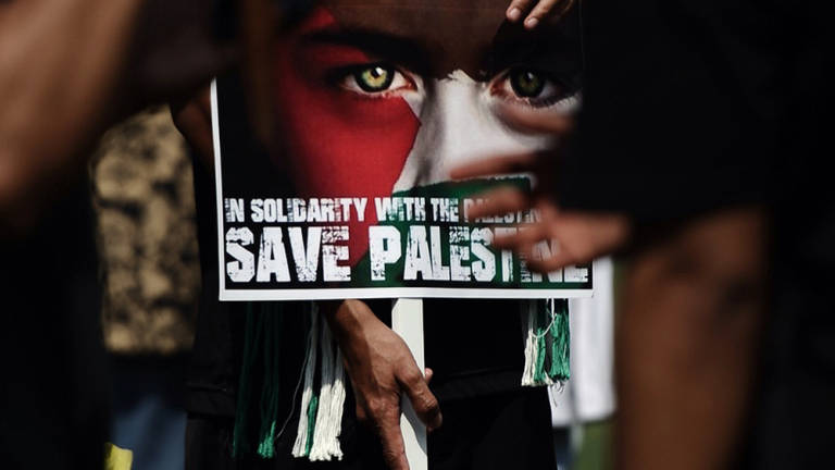 "Malaysians from all walks of life joined hands at the ""Save the Children of Gaza"" peaceful rally protest."