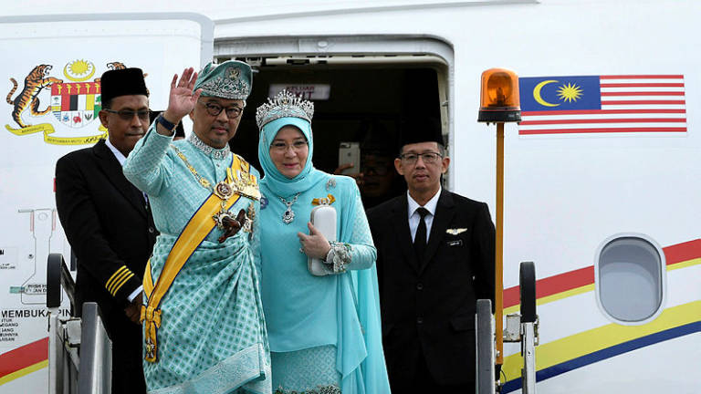 Sultan Abdullah arrives in KL to take oath as new Agong
