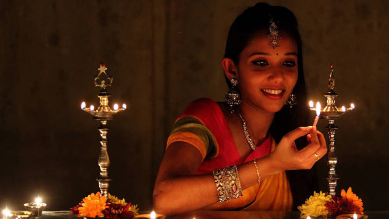 "Diwali also called Deepavali or the ""festival of lights"" is one of the most important festivals of the year and is celebrated by families by performing traditional activities together in their homes."