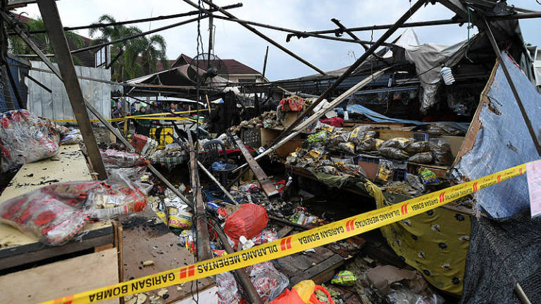 Keropok stall at Pasar Payang destroyed by fire