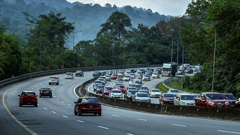 Traffic flow reported to be slow on several major expressways