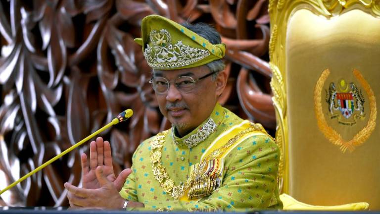 Agong hands over credentials of ATM cadet officers