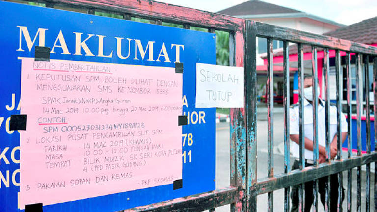 All schools in Pasir Gudang to re-open on March 31