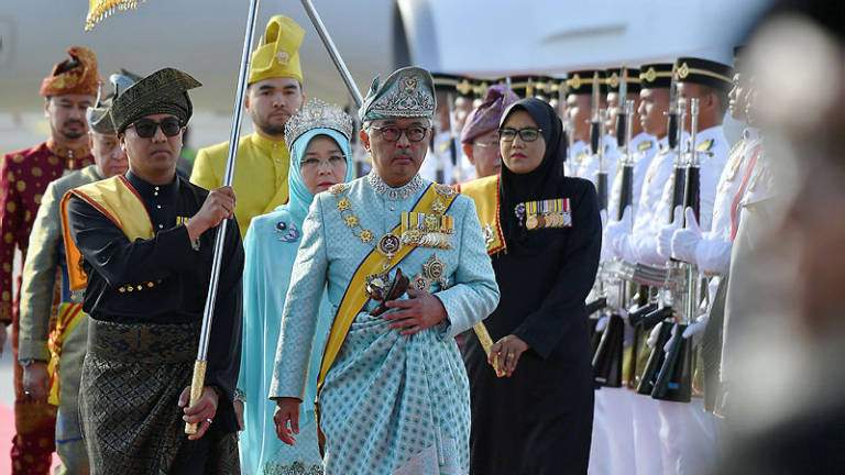 New Agong accorded state welcome at Parliament Square