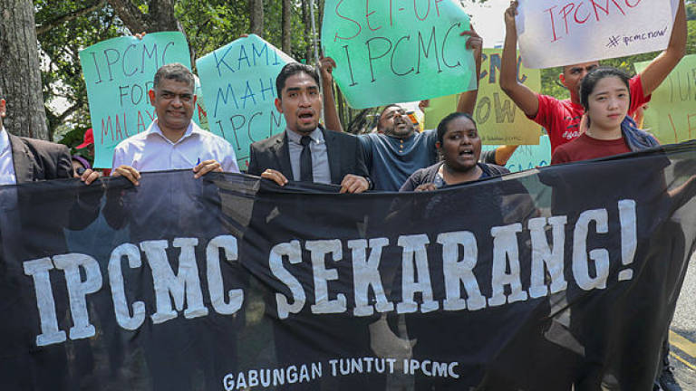 Rival protests: One group favours IPCMC, another Saifuddin's and Thomas' resignations
