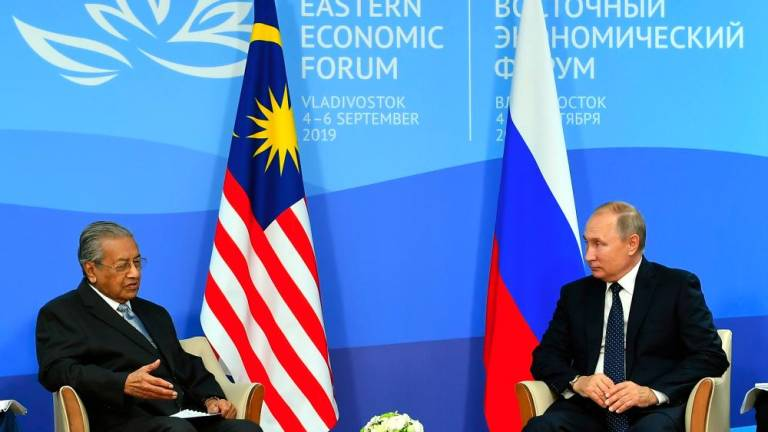 Mahathir, Putin discuss to further strengthening bilateral ties