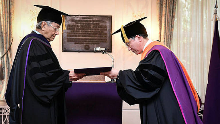 Japan's Doshisha University confers Honorary Doctorate of Humane Letters to Tun M