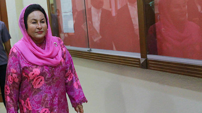 Rosmah absent from court, produces medical certificate