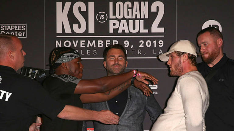 YouTubers KSI and Paul trade barbs ahead of boxing rematch